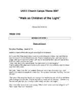 2007 – Walk as Children of Light (PDF)
