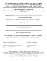 Certification Laity XXIV Sobor