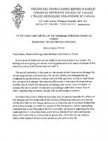 #1 Hierarchical Epistle from His Eminence, Metropolitan Yurij, Regarding the Coronavirus Pandemic