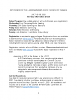 XXIV Sobor Information Sheet Revised February 28, 2021