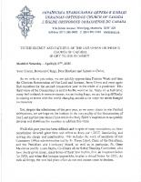 Archpastoral Letter from Metropolitan Yurij re the XXIVth regular Sobor Apr 17, 2021